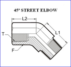 Stainless Steel 45* Street elbows